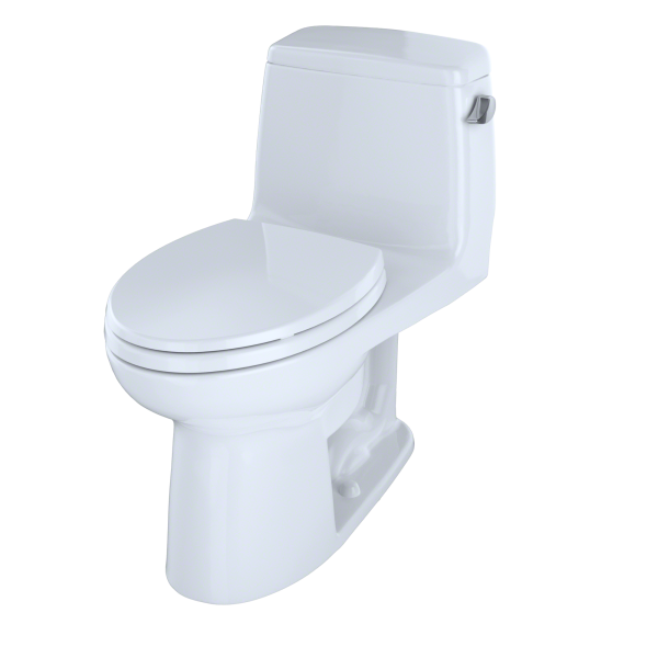 Toto Eco Ultramax Ada Compliant 1 Piece 1 28 Gpf Single Flush Elongated Toilet With Right Hand Trip Lever In Cotton White Ms854114elr 01 The Home Depot